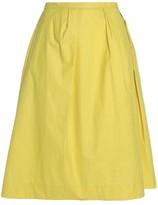 Maison Margiela Pleated Cotton Skirt