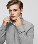 Reiss Dover - Zip-front Knitted Jacket in Grey, Mens