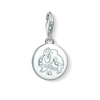 Thomas Sabo Unisex Turtle Doves 925 Sterling Silver Zirconia Charm Pendant 1388-051-14