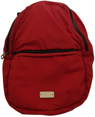 Valentino Red Synthetic Backpacks