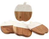 Thirstystone Harvest 4-Pc. Marble & Wood Pumpkin Coasters