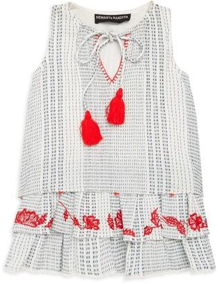 HEMANT AND NANDITA Girl's Printed Cotton Dress