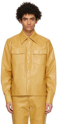 Séfr Yellow Faux-Leather Matsy Jacket