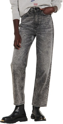 Sandro Repaired Straight Leg Jeans