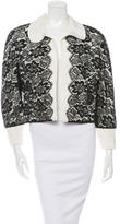 Carolina Herrera Cropped Lace Jacket