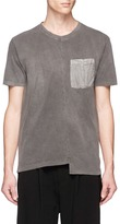 The Viridi-anne Staggered hem washed cotton jersey T-shirt