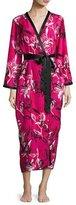 Oscar de la Renta Floral-Print Wrap Robe, Berry Print