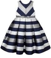 American Princess Girls 7-16 & Plus Size American Princess Metallic Striped Dress