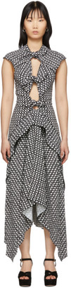 Proenza Schouler Black and White Checkered Tie Dress