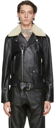 Stand Studio Black Leather George Jacket