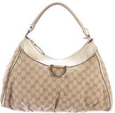 Gucci GG Canvas D Gold Hobo