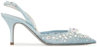 Rene Caovilla Cinderella sling-back pumps