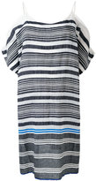 Lemlem striped cold-shoulder dress - women - Cotton/Acrylic - L