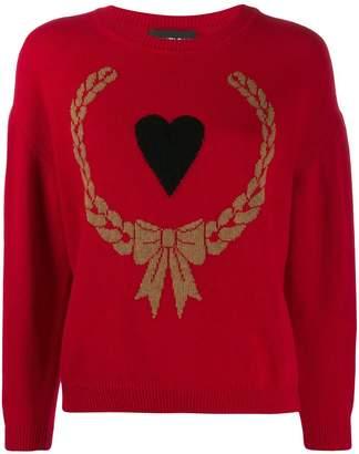 Moschino heart wreath jumper