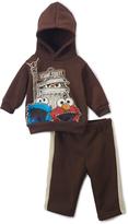 Children's Apparel Network Sesame Street Brown Hoodie & Pants - Infant & Toddler