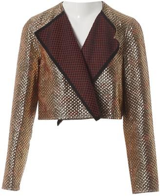 Maison Rabih Kayrouz Gold Polyester Jackets
