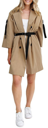 Belle & Bloom Russian Romance Camel Oversized Trench Coat