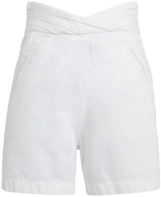 RtA Ellena High-Rise Denim Shorts