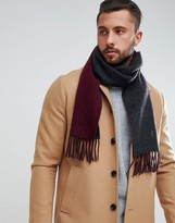 Polo Ralph Lauren Player Reversible Scarf Wool In Burgundy/Brown