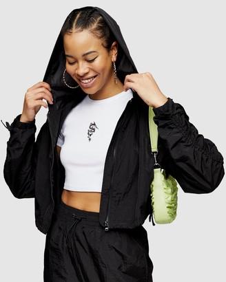 Topshop Joan Shell Crop Jacket