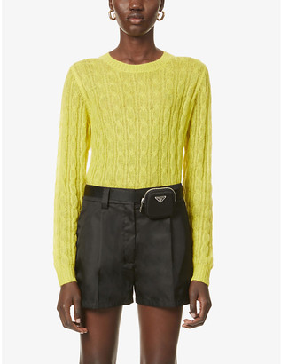 Prada Cable-knit knitted jumper