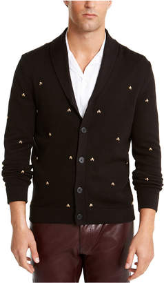 INC International Concepts Inc Men Famous Skull Cardigan Sweater