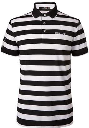RLX Ralph Lauren Striped Tech-Pique Golf Polo Shirt