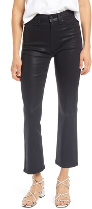 Seven London Coated High Waist Crop Flare Jeans