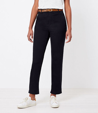 LOFT The Curvy Perfect Straight Pant in Washed Twill