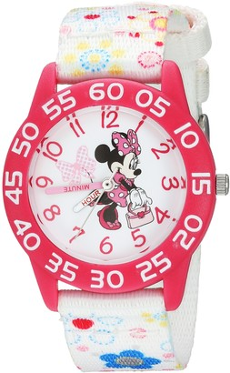 Disney Girls Minnie Mouse Analog-Quartz Watch with Leather-Synthetic Strap
