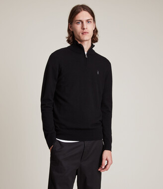 AllSaints Kilburn Zip Funnel Sweater