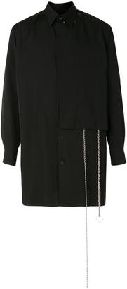 Yohji Yamamoto Chain-Detail Long Shirt