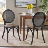 Bay Isle Home Palmer Upholstered Dining Chair Bay Isle Home Color: Black
