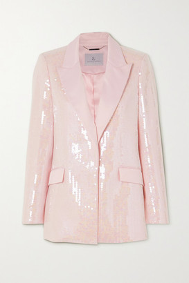 RALPH & RUSSO Sequined Satin-crepe Blazer - Baby pink