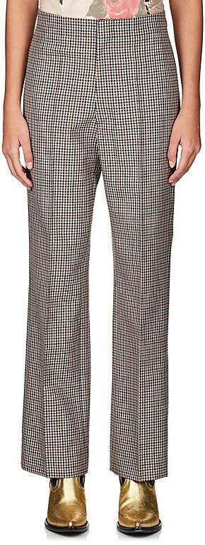 Maison Margiela WOMEN'S CHECKED WOOL-BLEND CLASSIC TROUSERS