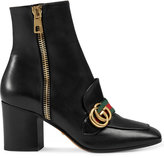 Gucci Leather mid-heel ankle boot - women - Leather - 39.5