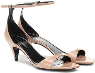 Saint Laurent Charlotte patent leather sandals