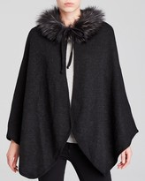 Bloomingdale's Corti Fur Collar Reversible Cape