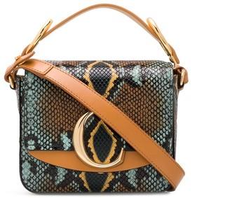 Chloé C mini snake-effect bag