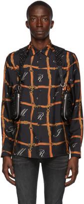 Amiri Black Tweed Body Harness Bag