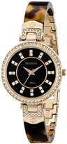 Swarovski Armitron Women's 75/5276JMGPTO Crystal Accented Tortoise Resin Bangle Watch
