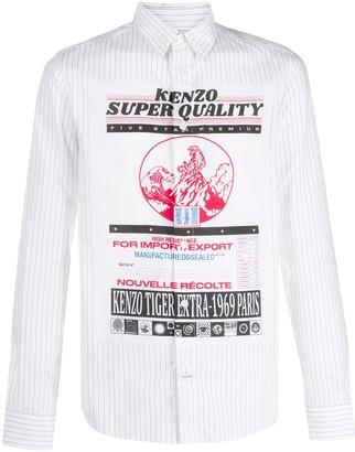 Kenzo pinstripe slim-fit shirt