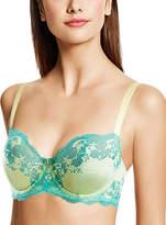 Wacoal Lime & Blue Lace Affair Contour Bra
