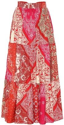 Polo Ralph Lauren Printed cotton maxi skirt