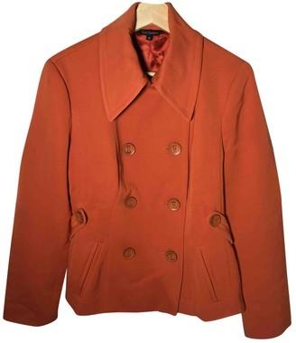 Tara Jarmon Orange Wool Coats