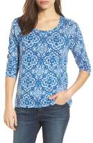 Lucky Brand All Over Print Cotton Blend Top