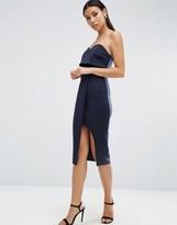 Asos Bandeau Sweetheart Midi Wrap Dress