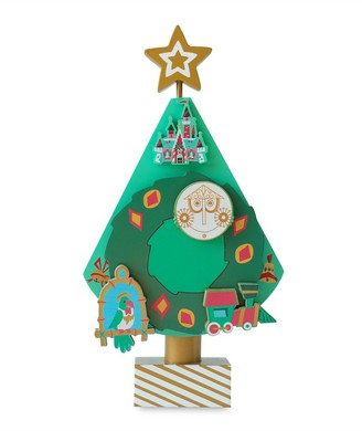 Disney Parks Musical Wood Block Christmas Tree