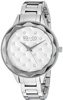 SO&CO New York Women's 'Madison' Quartz Metal and Stainless Steel Dress Watch, Color:Silver-Toned (Model: 5255.1)
