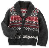 Oshkosh Baby B'gosh® Fair Isle Cardigan in Grey